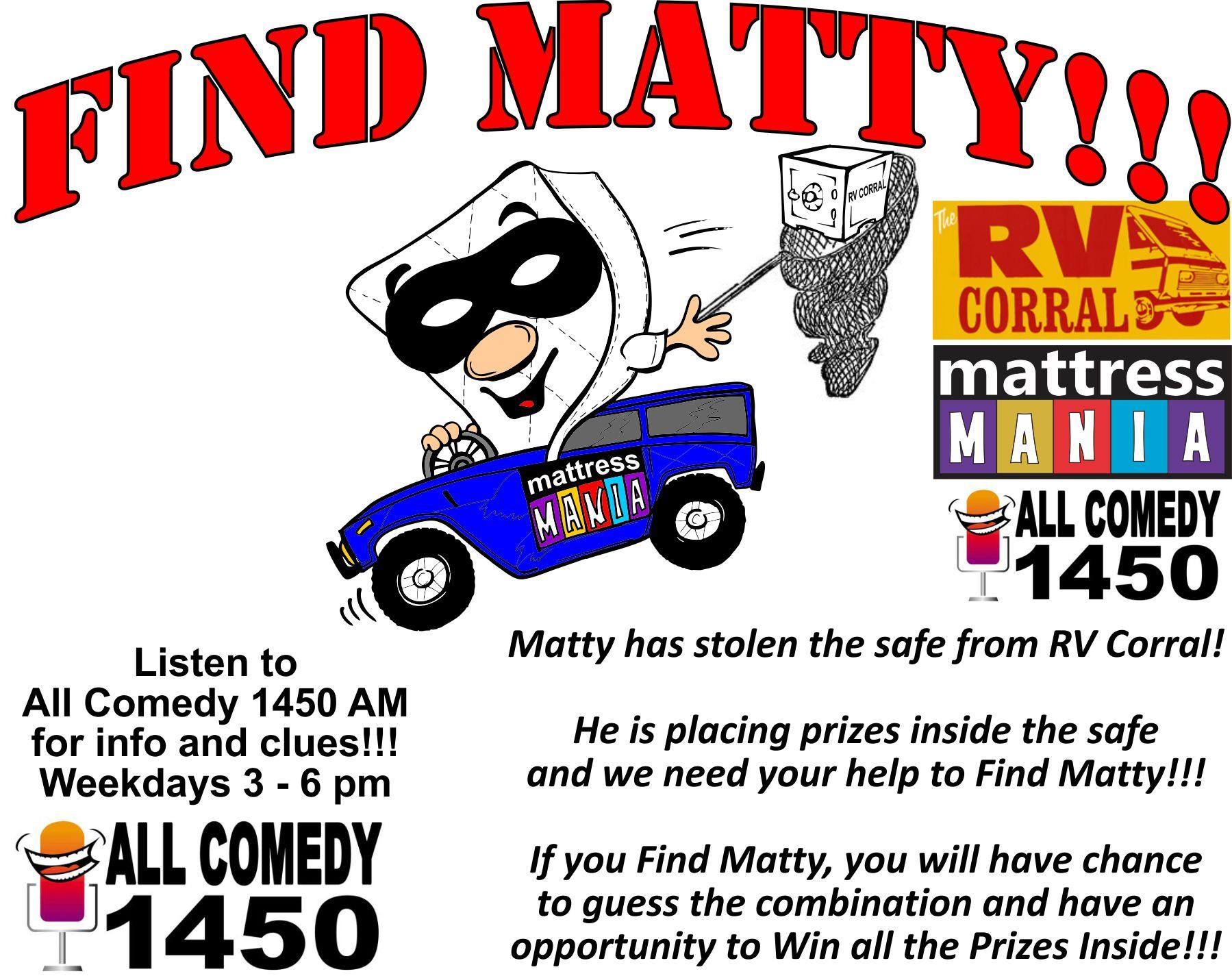 Find Matty Info Graphic
